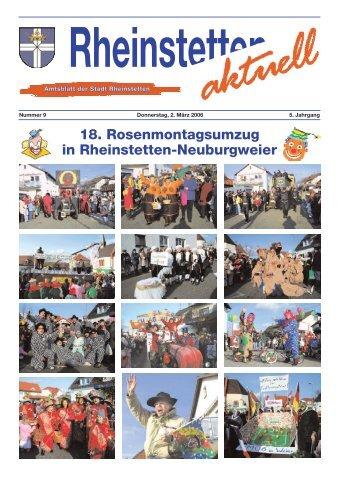 18. Rosenmontagsumzug in Rheinstetten-Neuburgweier - Stadt ...
