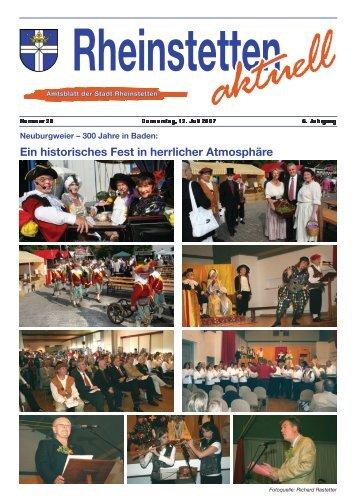 Ein historisches Fest in herrlicher Atmosphäre - Stadt Rheinstetten