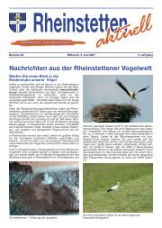 Nachrichten aus der Rheinstettener Vogelwelt - Stadt Rheinstetten
