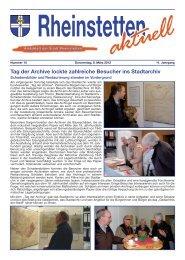 Tag der Archive lockte zahlreiche Besucher ins Stadtarchiv