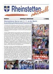 Rheinstettener Narren seit 11. 11. an der Macht - Stadt Rheinstetten