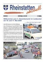 zum 4. Gewerbemarkt im Leisbuckel am 16. und 17. Mai 2009