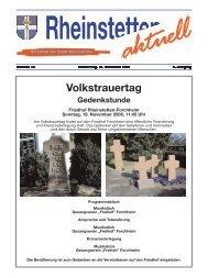 Volkstrauertag - Stadt Rheinstetten