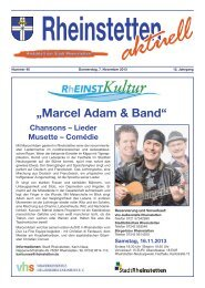 """""""Marcel Adam & Band"""" - Stadt Rheinstetten"""