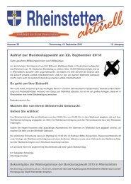 Aufruf zur Bundestagswahl am 22. September 2013 - Stadt ...