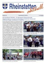 22. Forchheimer Dorffest – ein gelungenes ... - Rheinstetten