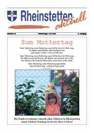Zum Muttertag - Stadt Rheinstetten