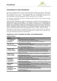 Informationen zu den Promotionen - Kreisschule Rheintal-Studenland
