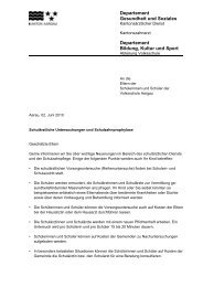 Schulärztliche Untersuchungen und Schulzahnprophylaxe