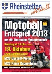 19. Oktober - Stadt Rheinstetten