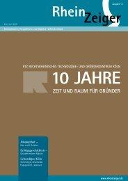 10 Jahre – Zeit und Raum für Gründer - Rheinzeiger