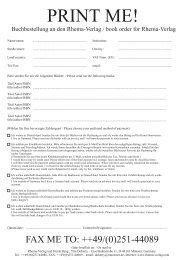 Bestellformular (PDF) - Rhema – Verlag