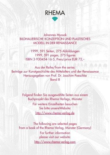 Folgend finden Sie ausgewählte Seiten aus ... - Rhema – Verlag