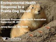 Environmental Health Response to a Prairie Dog Die-off