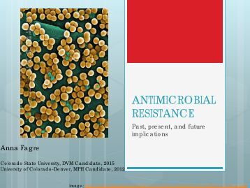 ANTIMICROBIAL RESISTANCE - Public Health Alliance of Colorado