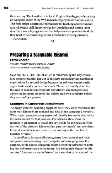 Preparing A Scannable Resume  What Is A Scannable Resume