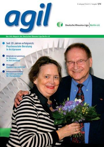 Agil Ausgabe 1/13 - Deutsche Rheuma-Liga Berlin e.V.