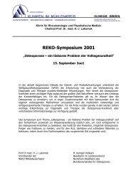 Osteoporose - in Rheuma-World