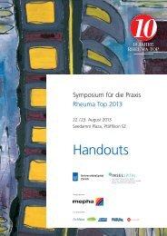Handouts (Heft) - Rheuma Schweiz