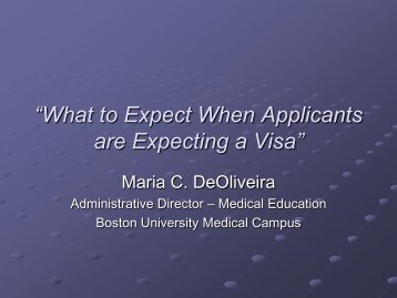 """""""What to Expect When Applicants are Expecting a Visa"""""""