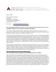 ACR Response - American College of Rheumatology