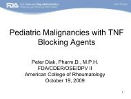 Pediatric Malignancies with TNF Blocking Agents - American ...