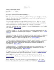 Reference List Lupus Nephritis Update Search Feb 1, 2012 to Dec ...