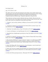 Reference List Gout Update Search Apr 1, 2011 to Dec 31, 2012 ...