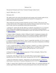 Reference List Osteoporosis/Osteopenia and Various Treatment ...