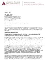 ACR Letter to CMS - American College of Rheumatology