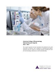 ACR Research Agenda - American College of Rheumatology