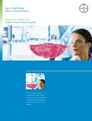 Science For A Better Life – Health through medical progress  - Bayer