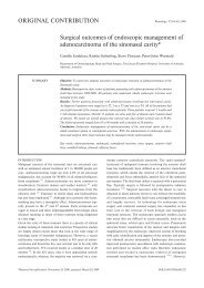 Surgical outcomes of endoscopic management of ... - ResearchGate