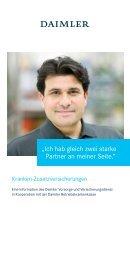 Flyer Krankenzusatzversicherung - Daimler Vorsorge und ...