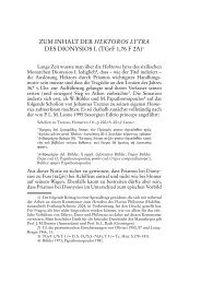 ZUM INHALT DER HEKTOROS LYTRA DES DIONYSIOS I. (TGrF 1 ...
