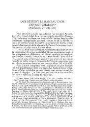 QUI DETIENT LE RAMEAU D'OR DEVANT CHARON?