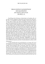 Dracontius' Konzeption des Kleinepos De raptu Helenae