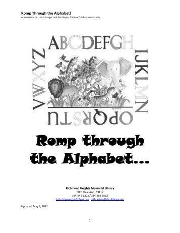 Romp Through the Alphabet - Richmond Heights Memorial Library