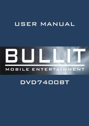 user manual dvd7400bt - Rho-Delta Automotive & Consumer Products