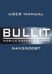 user manual nav3500bt - Rho-Delta Automotive & Consumer Products