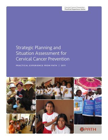 Strategic Planning and Situation Assessment for Cervical ... - RHO