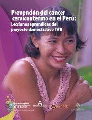 Prevención del cáncer cervicouterino en el Perú: Lecciones ... - RHO