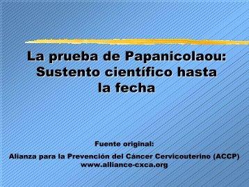 La prueba de Papanicolaou - IARC Screening Group