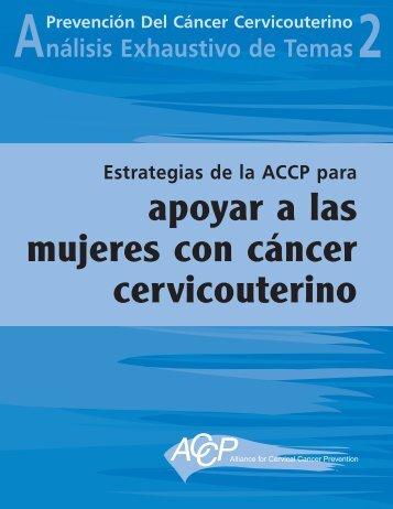 Estrategias de la ACCP para apoyar a las mujeres con cáncer ...