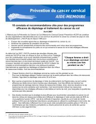 French--ACCP Recommendations 2007 - Alliance for Cervical ...