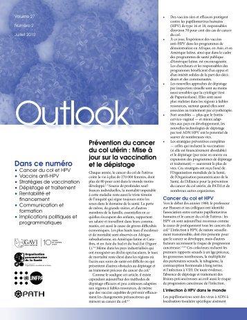 Prévention du cancer du col utérin : Mise à jour sur la ... - RHO