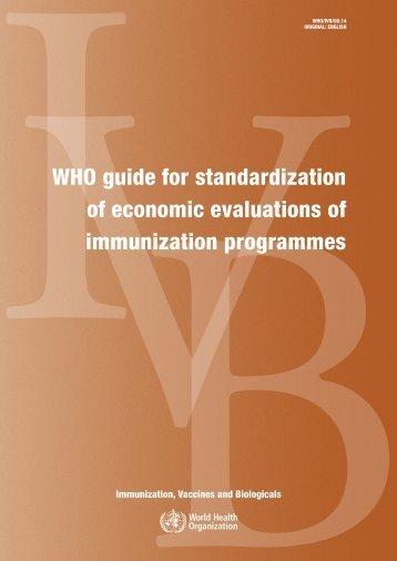 World Health Organization guide for standardization of ... - RHO