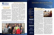 Honors Program newsletter (Spring 2011) - University of Rhode Island