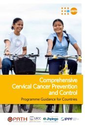 Comprehensive Cervical Cancer Prevention and Control - UNFPA