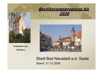 Einwohnerstatistik Stadt Bad Neustadt ad Saale - Landkreis Rhön ...